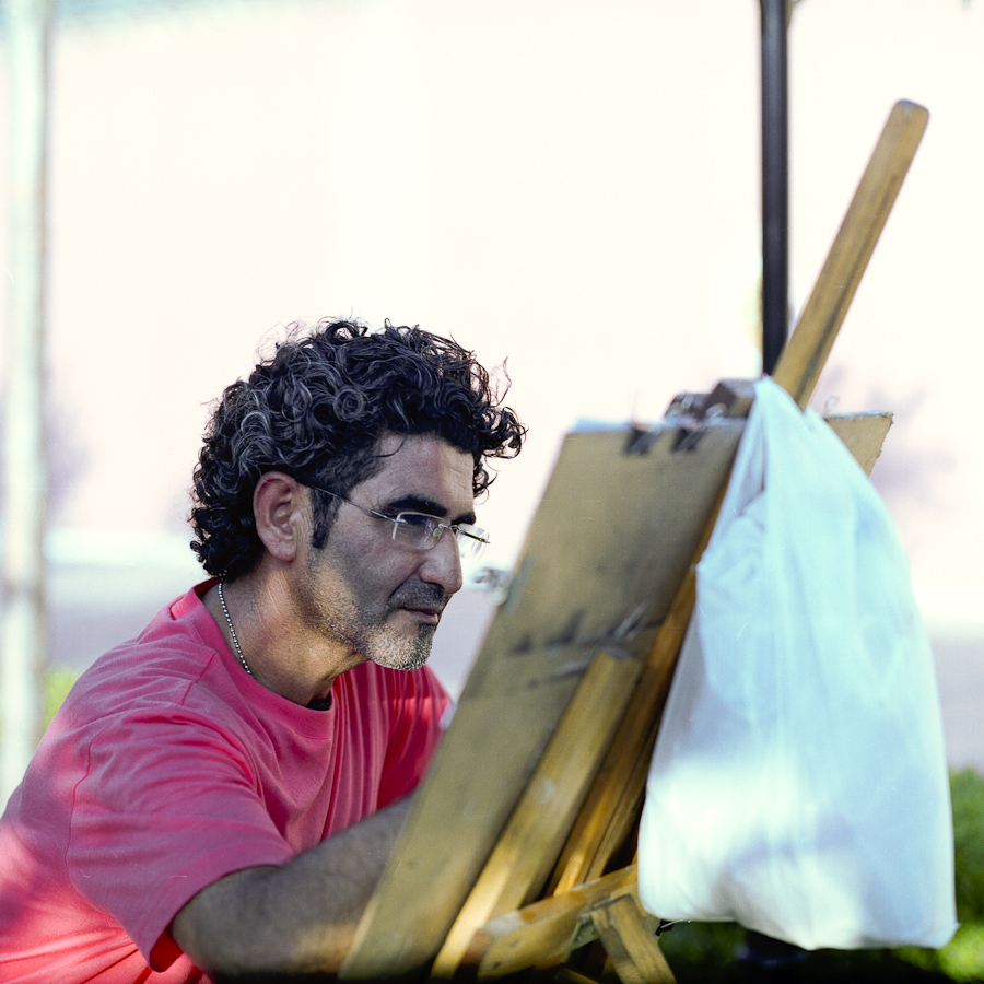 Artist (Istanbul, Turkey) Pentacon Six TL, Carl Zeiss Jena Biometar 120mm f/2.8, Fujicolor Pro 160NS, Canoscan 9900F