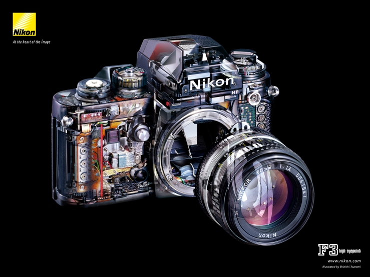 Nikon F3 HP official structural illustration