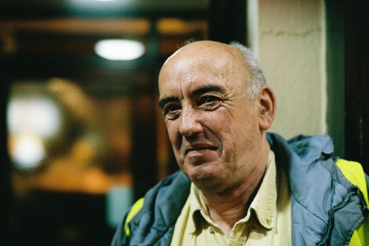 Gentleman from a pub (Dublin 2015), Leica M2, Zeiss C Sonnar 50mm f/1.5 @ f/2, Fuji Xtra400
